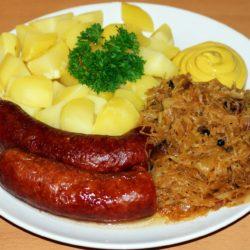 sauerkraut and kielbasa