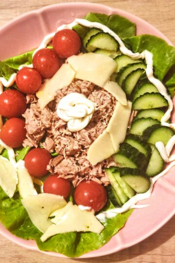 tuna salad recipe on a plate