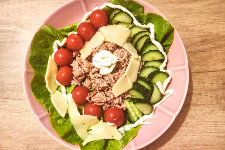 tuna salad recipe on a plate