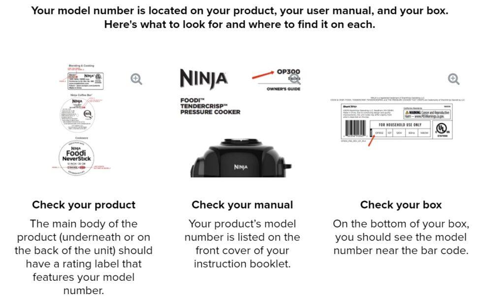 Ninja blender serial number